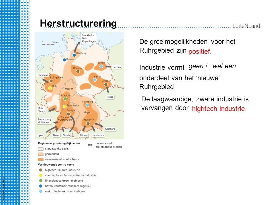 Herstructurering De groeimogelijkheden voor het Ruhrgebied zijn