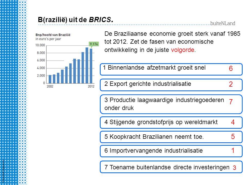 B(razilië) uit de BRICS.