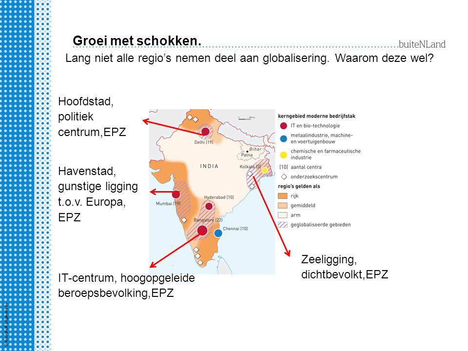 Groei met schokken. Lang niet alle regio's nemen deel aan globalisering. Waarom deze wel Hoofdstad, politiek centrum,EPZ.
