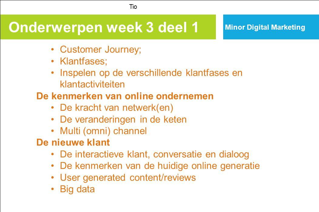 Onderwerpen week 3 deel 1 Customer Journey; Klantfases;