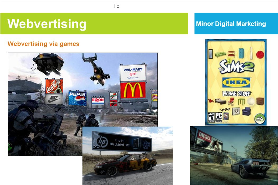 Tio Minor Digital Marketing Webvertising Webvertising via games
