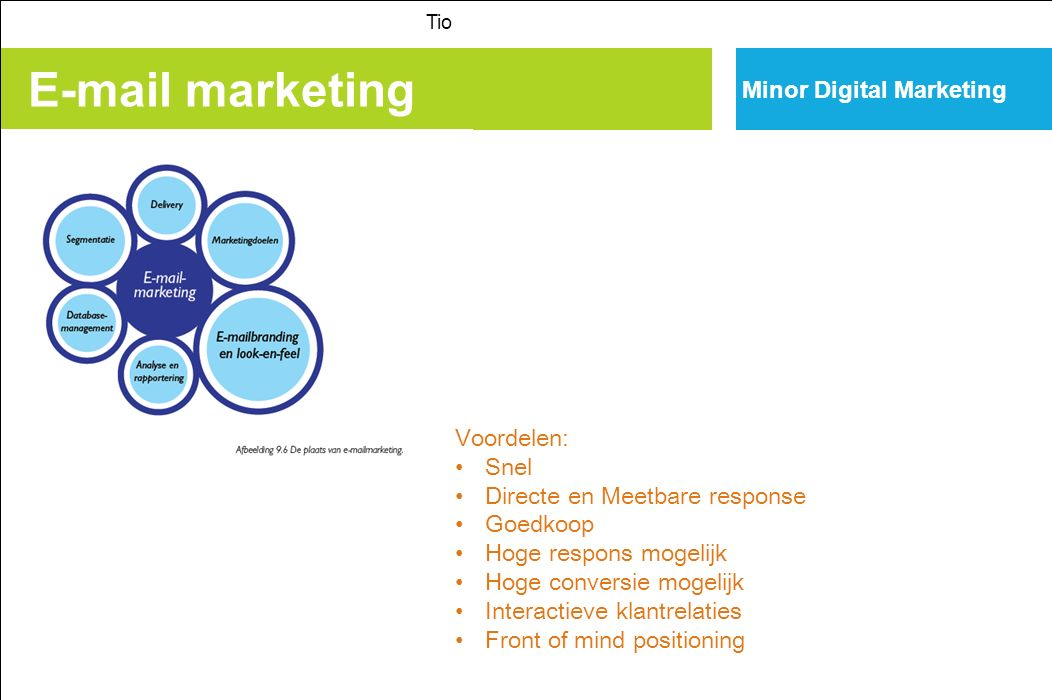 E-mail marketing Minor Digital Marketing Voordelen: Snel
