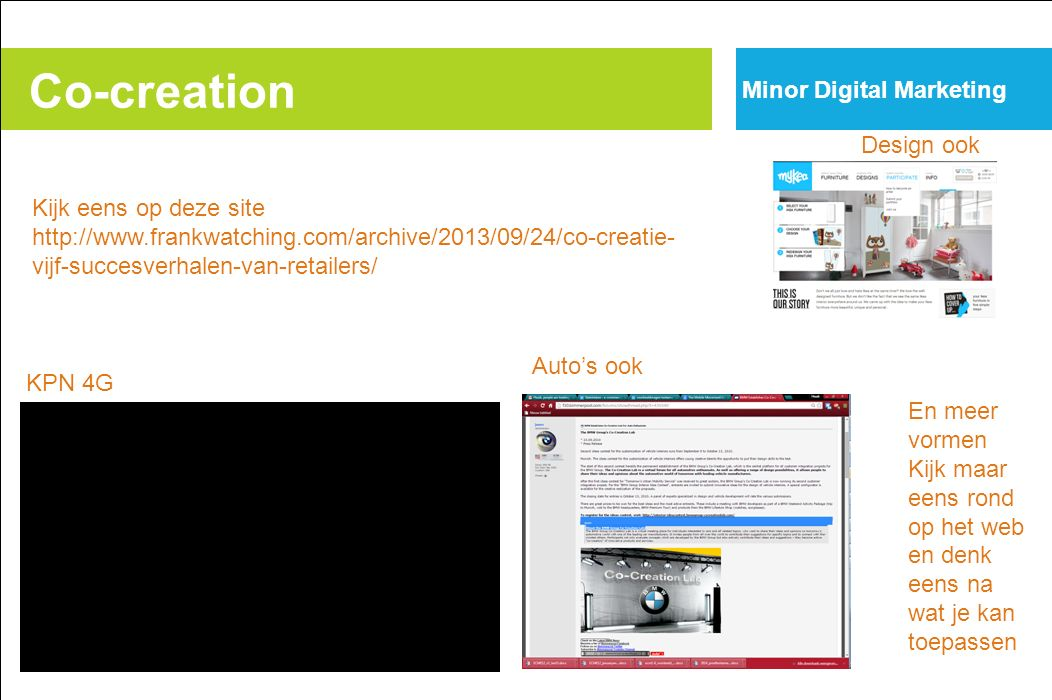 Co-creation Minor Digital Marketing Design ook Kijk eens op deze site