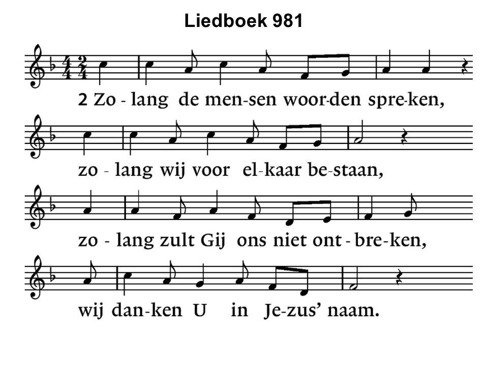 Liedboek 981