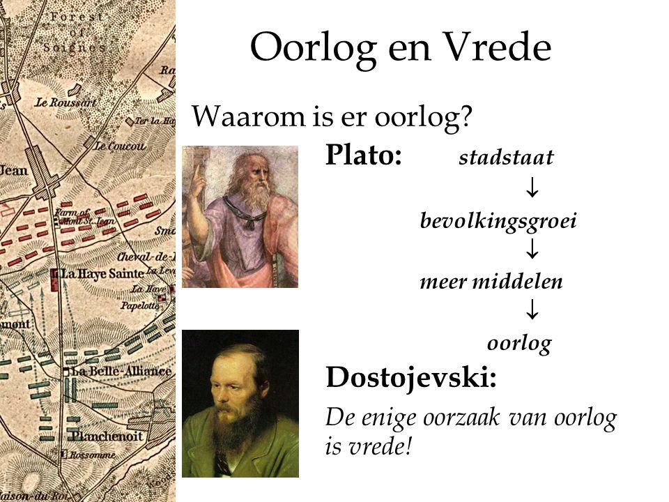 Oorlog en Vrede Waarom is er oorlog Plato: stadstaat