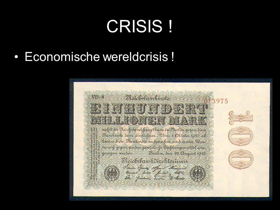 CRISIS ! Economische wereldcrisis ! © Stef van der Velden 2011