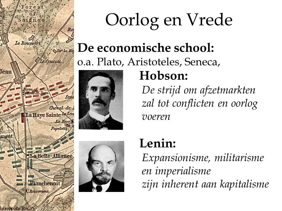 Oorlog en Vrede De economische school: