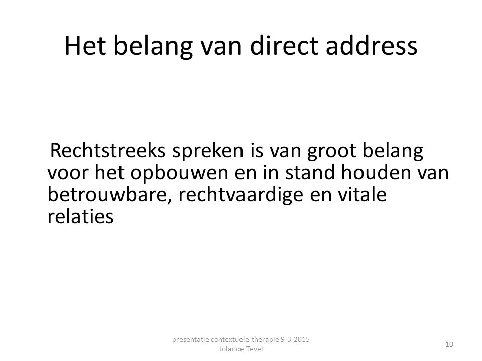 Het belang van direct address