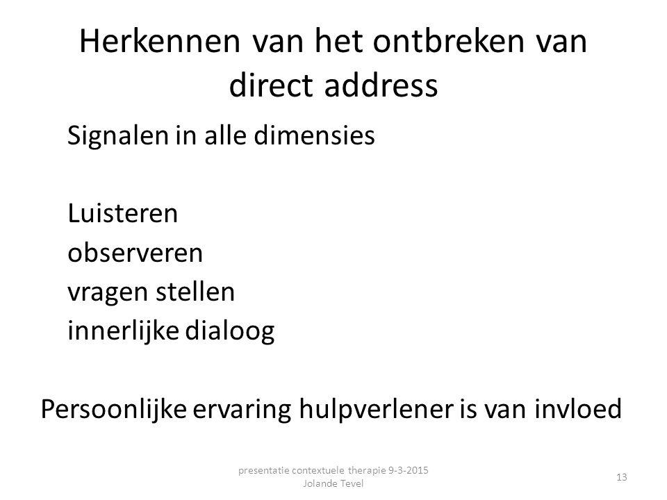 Herkennen van het ontbreken van direct address