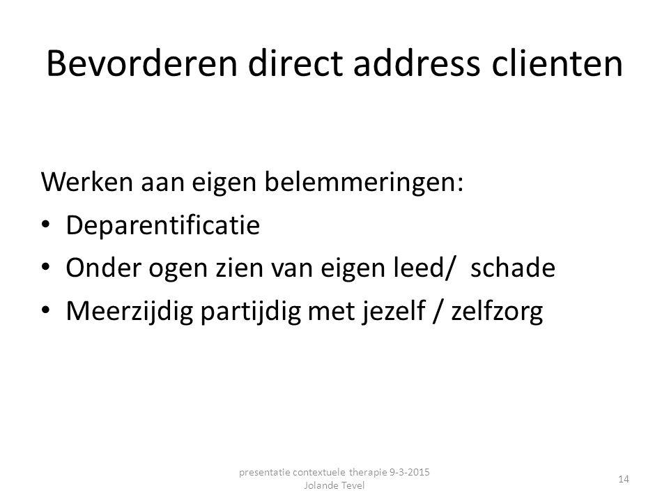 Bevorderen direct address clienten