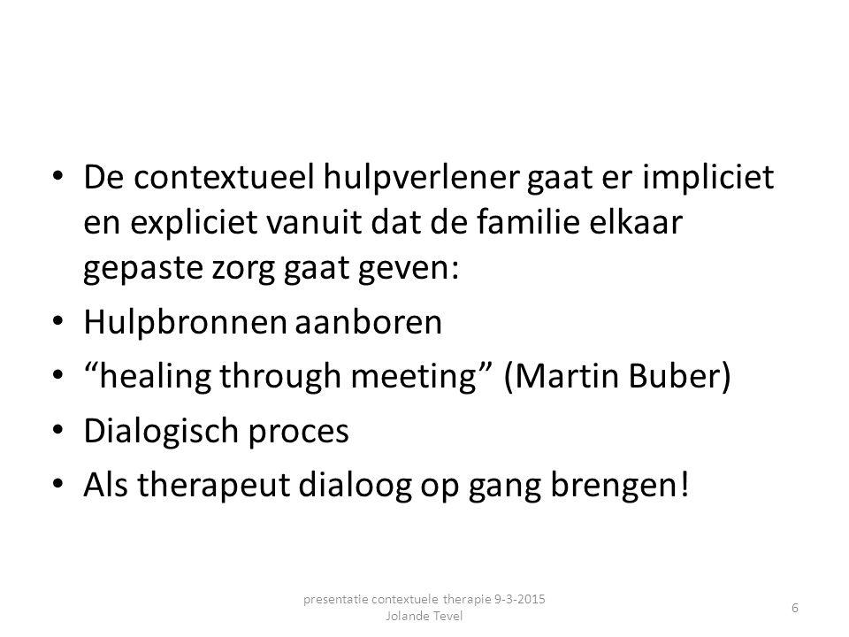 presentatie contextuele therapie 9-3-2015 Jolande Tevel