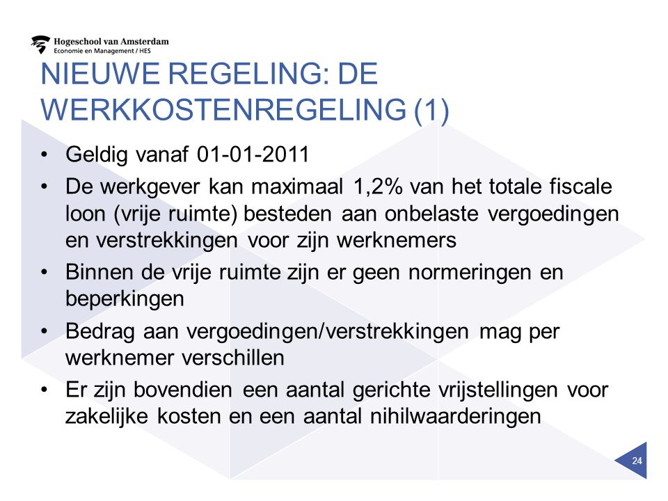 Nieuwe regeling: de werkkostenregeling (1)
