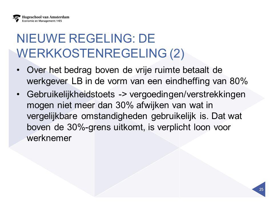 Nieuwe regeling: de werkkostenregeling (2)