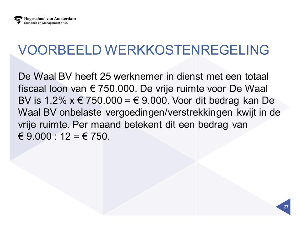 Voorbeeld werkkostenregeling