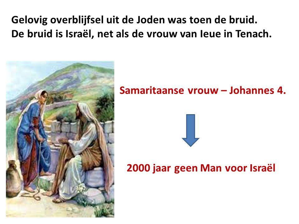 Gelovig overblijfsel uit de Joden was toen de bruid