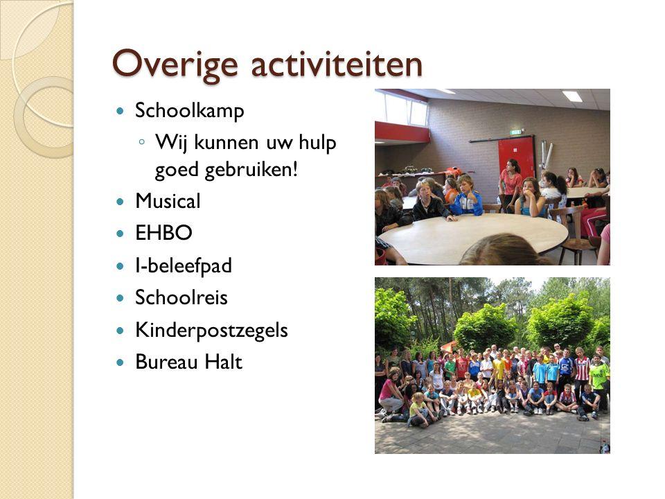Overige activiteiten Schoolkamp Wij kunnen uw hulp goed gebruiken!