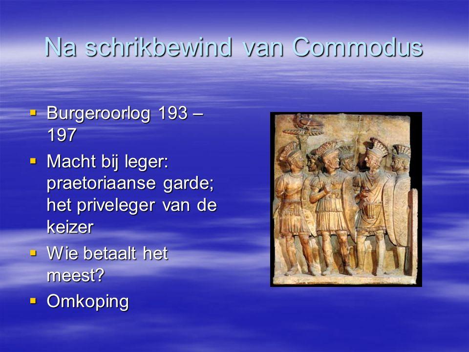 Na schrikbewind van Commodus
