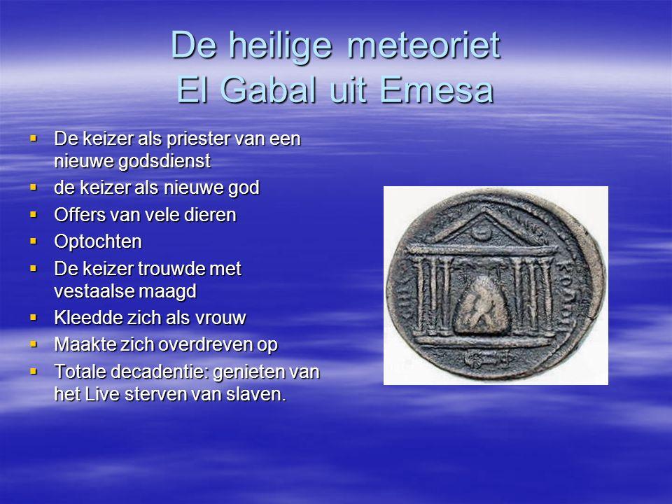 De heilige meteoriet El Gabal uit Emesa
