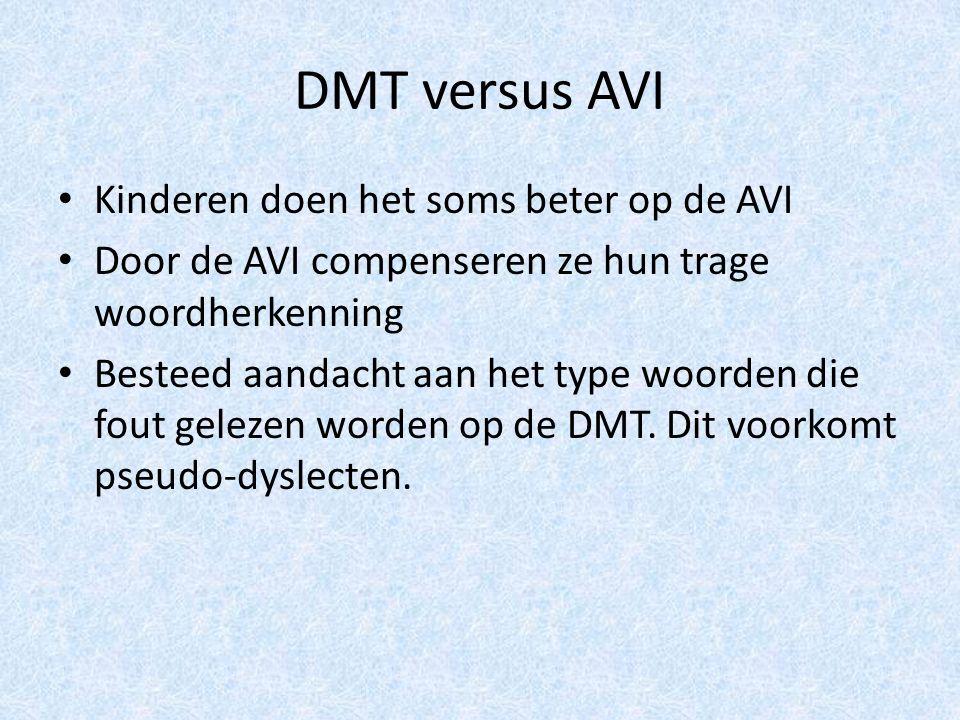 DMT versus AVI Kinderen doen het soms beter op de AVI