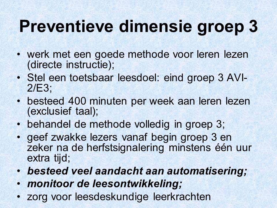 Preventieve dimensie groep 3