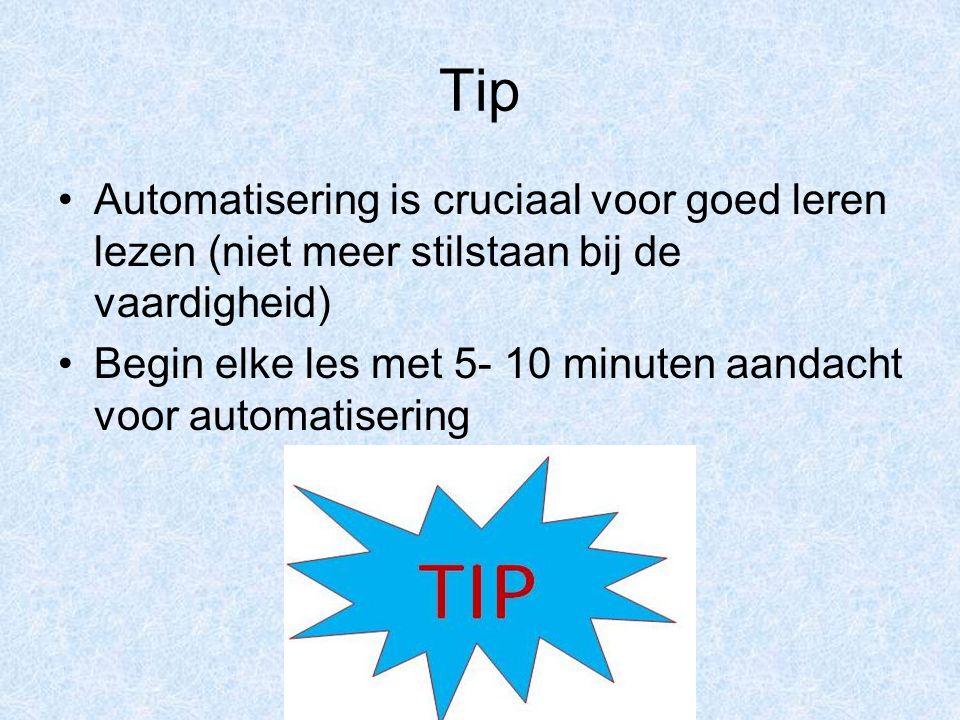 Tip Automatisering is cruciaal voor goed leren lezen (niet meer stilstaan bij de vaardigheid)