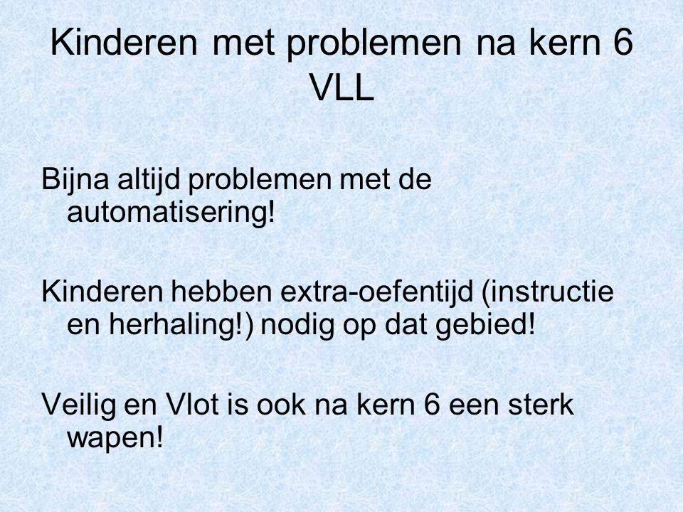Kinderen met problemen na kern 6 VLL