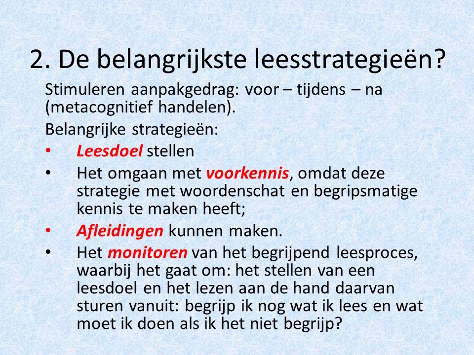2. De belangrijkste leesstrategieën