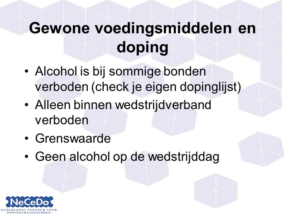 Gewone voedingsmiddelen en doping