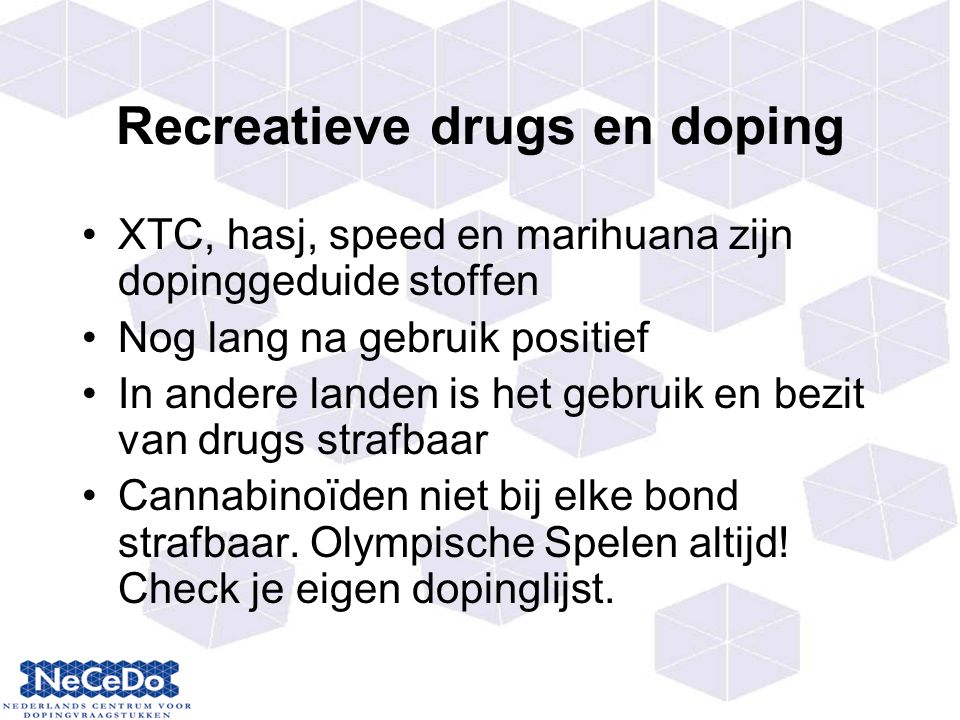 Recreatieve drugs en doping