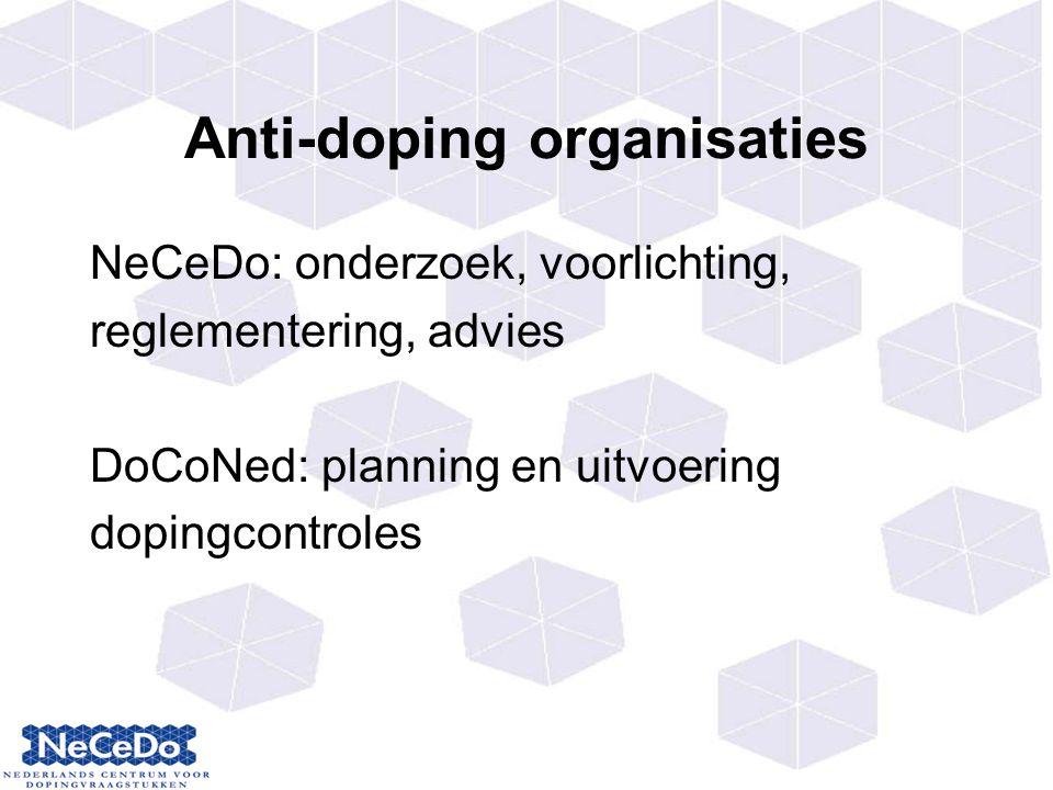 Anti-doping organisaties