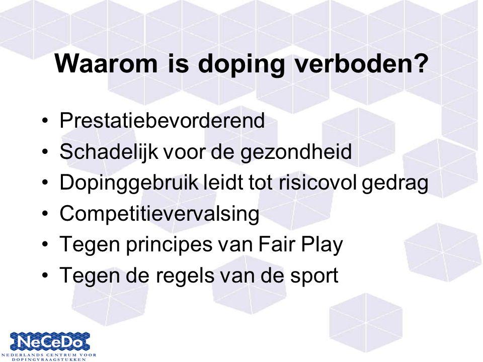 Waarom is doping verboden