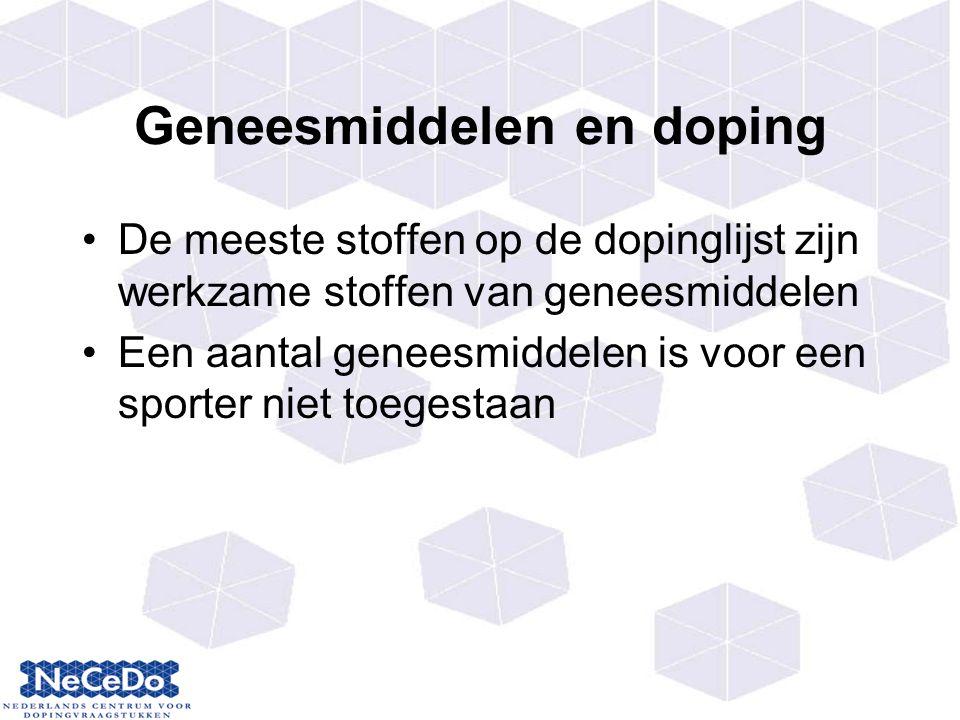 Geneesmiddelen en doping