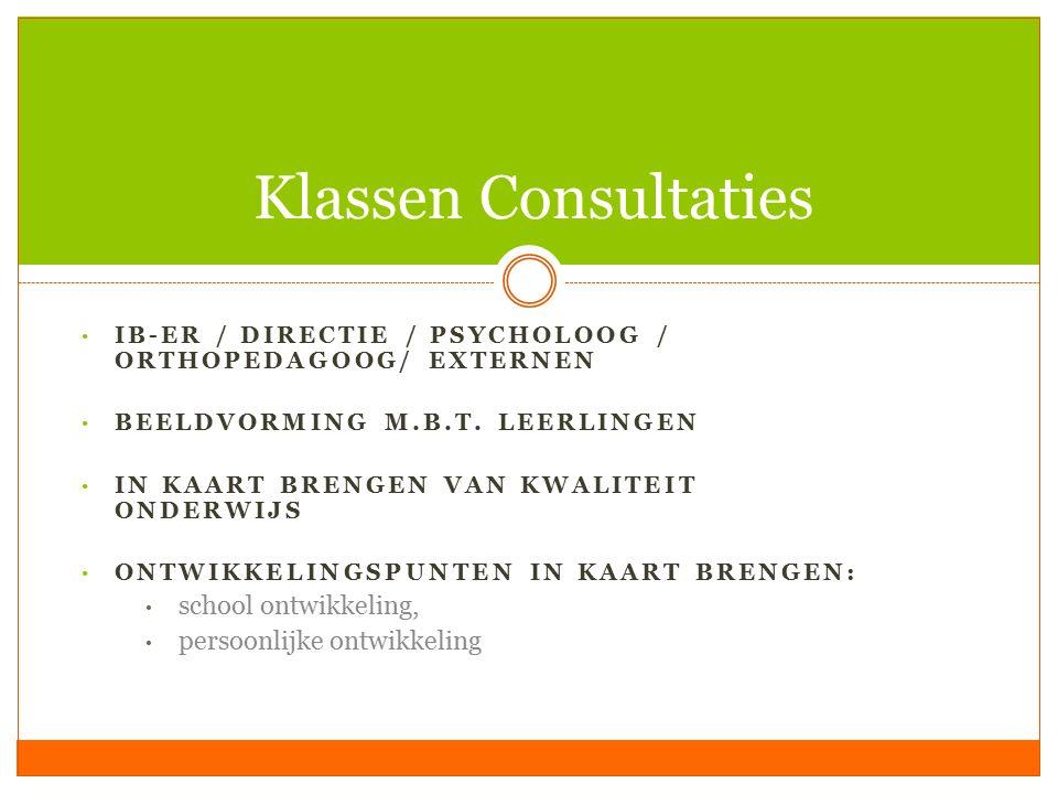 Klassen Consultaties school ontwikkeling, persoonlijke ontwikkeling