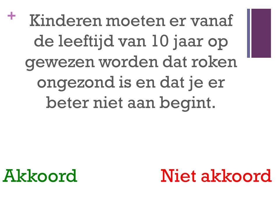 Kinderen moeten er vanaf de leeftijd van 10 jaar op gewezen worden dat roken ongezond is en dat je er beter niet aan begint.