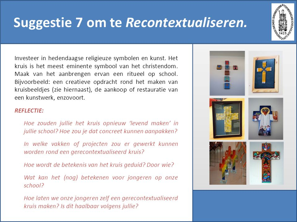 Suggestie 7 om te Recontextualiseren.