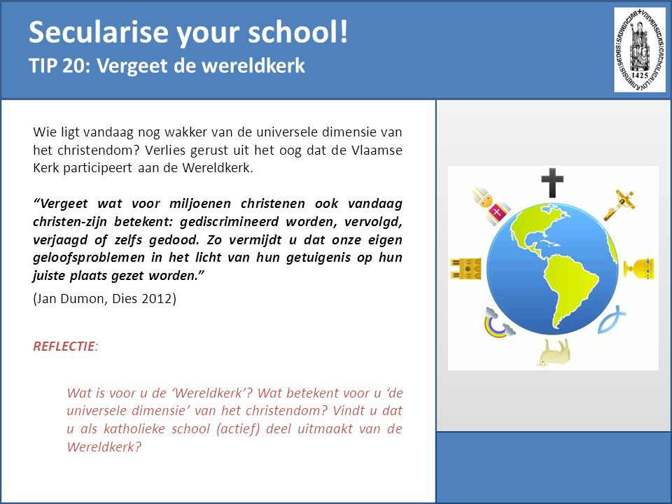 Secularise your school!