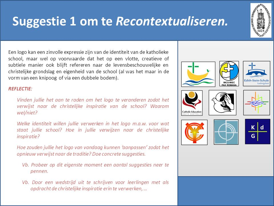 Suggestie 1 om te Recontextualiseren.