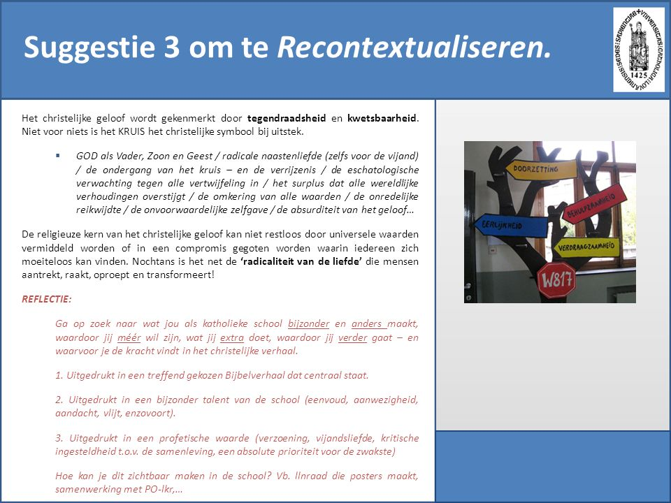 Suggestie 3 om te Recontextualiseren.