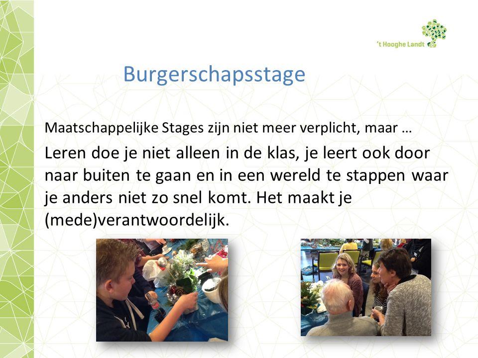 Burgerschapsstage Maatschappelijke Stages zijn niet meer verplicht, maar …