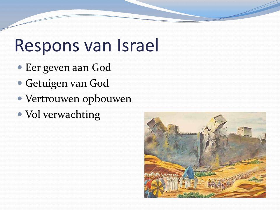 Respons van Israel Eer geven aan God Getuigen van God