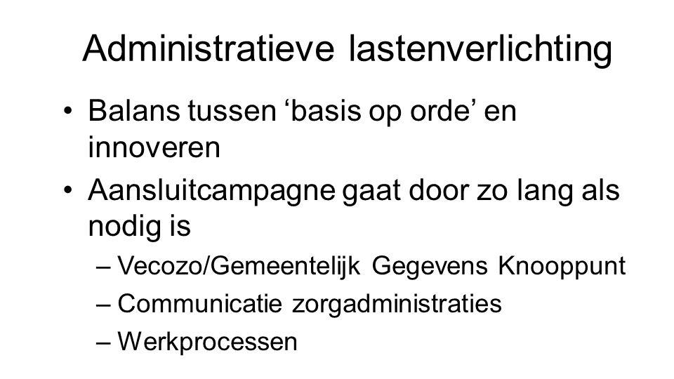 Administratieve lastenverlichting