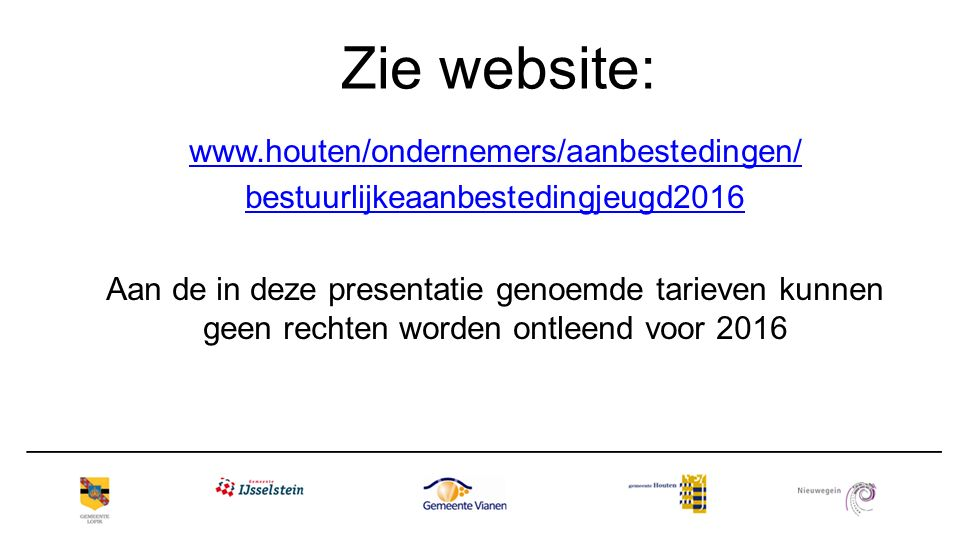 Zie website: