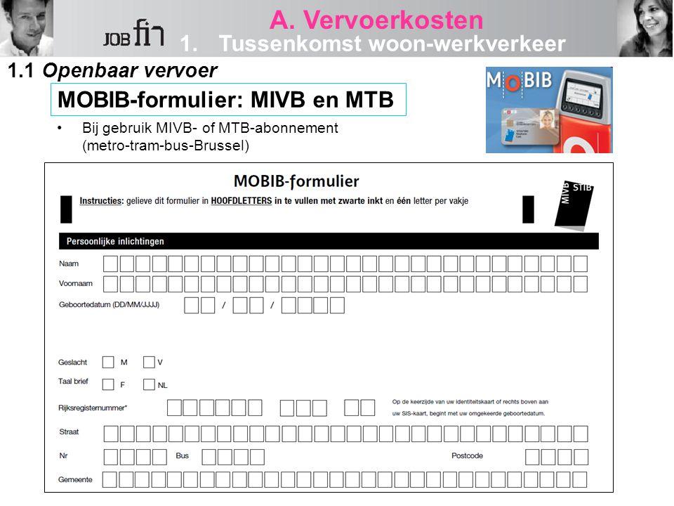 MOBIB-formulier: MIVB en MTB