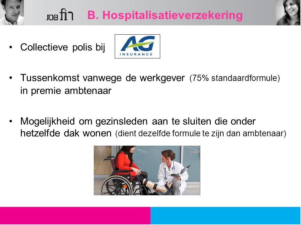 B. Hospitalisatieverzekering