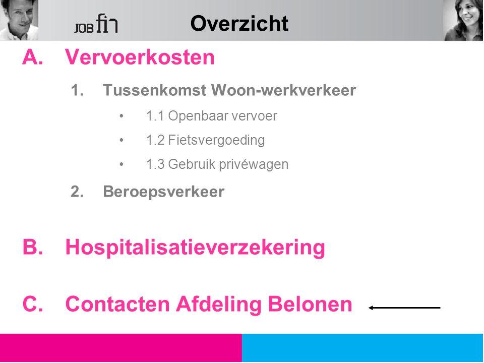 Hospitalisatieverzekering Contacten Afdeling Belonen