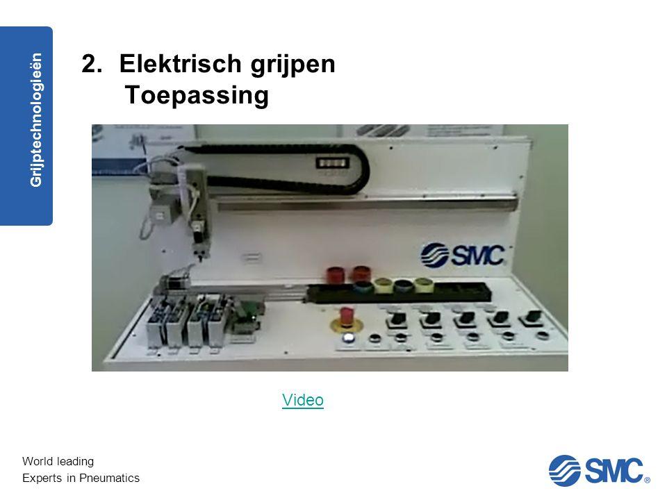 Elektrisch grijpen Toepassing Grijptechnologieën Video