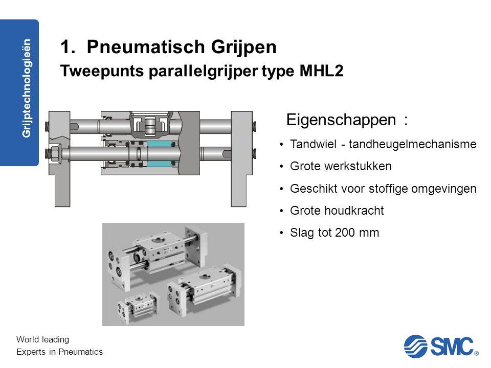 1. Pneumatisch Grijpen Tweepunts parallelgrijper type MHL2