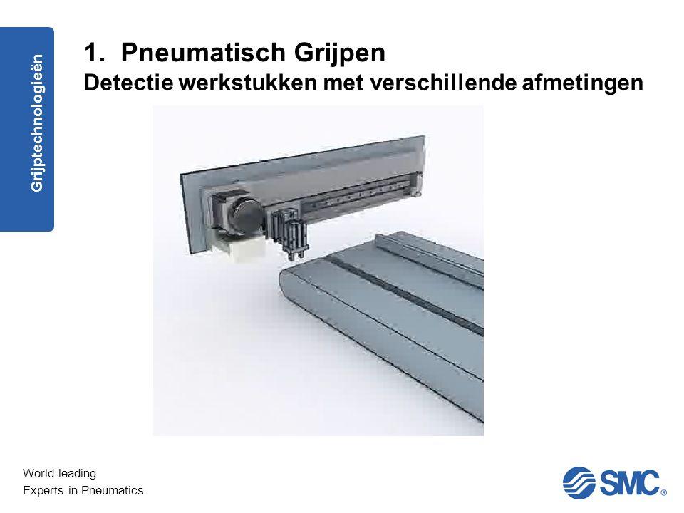 1. Pneumatisch Grijpen Detectie werkstukken met verschillende afmetingen Grijptechnologieën