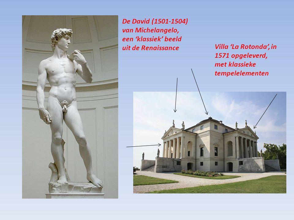 De David (1501-1504) van Michelangelo, een 'klassiek' beeld uit de Renaissance