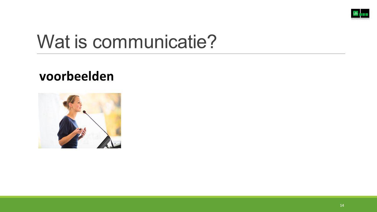 Wat is communicatie voorbeelden